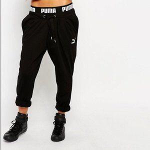PUMA Hareem Sweatpants With Logo Tape Waist Band